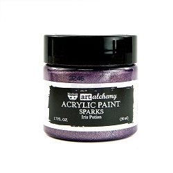Prima - Art Alchemy Acrylic Paint - Sparks Iris Potion by Finnabair