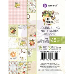 Prima - Fruit Paradise Collection - 3x4 Journaling Cards
