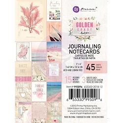 Prima - Golden Coast Collection - 3x4 Journaling Cards