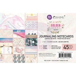 Prima - Golden Coast Collection - 4x6 Journaling Cards