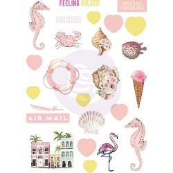 Prima - Golden Coast Collection - Puffy Stickers