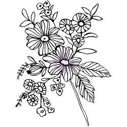 Prima - Christine Adolph Cling Stamps - Cheerful Bloom