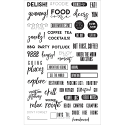 Prima - Planner Clear Stamps - Food & Travel by Frank Garcia