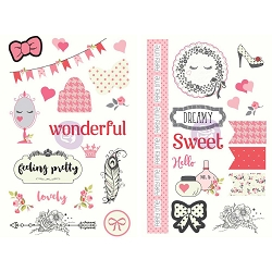 Prima - Julie Nutting Collection - Chipboard Stickers