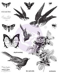 Prima - Finnabair Cling Stamp wild and free