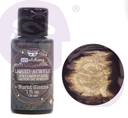Prima - Finnabair Art Alchemy - Liquid Acrylic Paint - Burnt Sienna