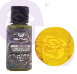Prima - Finnabair Art Alchemy - Liquid Acrylic True Yellow