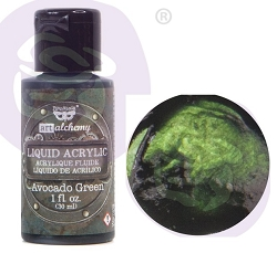 Prima - Finnabair Art Alchemy - Liquid Acrylic Avocado Green