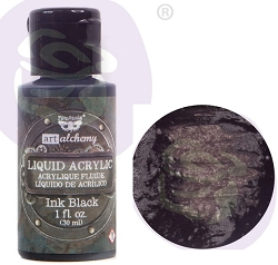 Prima - Finnabair Art Alchemy - Liquid Acrylic Ink Black