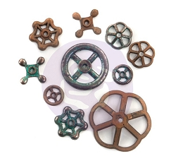 Prima - Finnabair Mechanicals Set Rusty Knobs