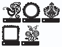 Prima - Mini Motifs Screens Plastic Stencils - Mix #1