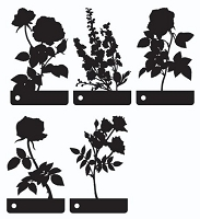 Prima - Mini Motifs Screens Plastic Stencils - Mix #2