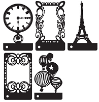 Prima - Mini Motifs Screens Plastic Stencils - Mix #3
