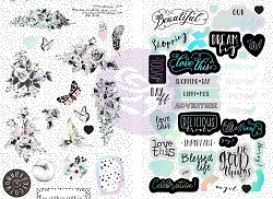 Prima - Flirty Fleur Collection - Chipboard Stickers