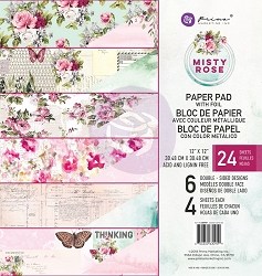 Prima - Misty Rose Collection - 12x12 Paper Pad