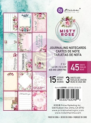 Prima - Misty Rose Collection - 3x4 Journaling Cards