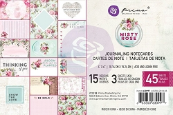 Prima - Misty Rose Collection - 4x6 Journaling Cards