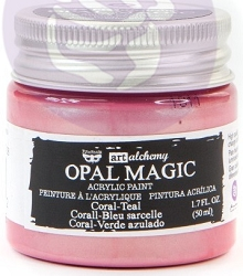 Prima - Art Alchemy - Acrylic Paint - Opal Magic Coral-Teal by Finnabair