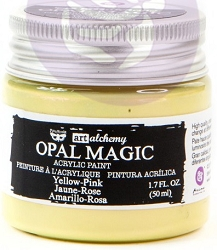 Prima - Art Alchemy - Acrylic Paint - Opal Magic Yellow-Pink by Finnabair