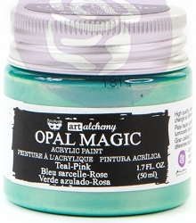 Prima - Art Alchemy - Acrylic Paint - Opal Magic Teal-Pink by Finnabair