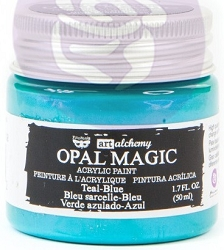 Prima - Art Alchemy - Acrylic Paint - Opal Magic Teal-Blue by Finnabair