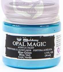 Prima - Art Alchemy - Acrylic Paint - Opal Magic Blue-Green by Finnabair