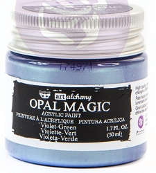 Prima - Art Alchemy - Acrylic Paint - Opal Magic Violet-Green by Finnabair