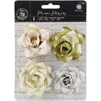 Prima - Kindled Mulberry Paper Roses - Lush