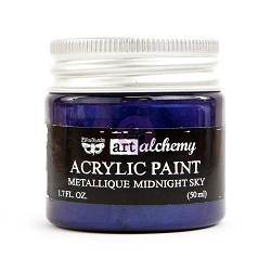 Prima - Art Alchemy - Acrylic Paint - Metallique Midnight Sky by Finnabair