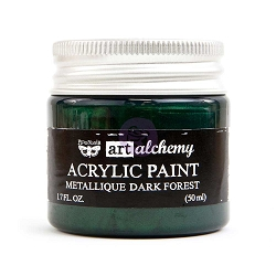 Prima - Art Alchemy - Acrylic Paint - Metallique Dark Forest by Finnabair