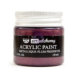 Prima - Art Alchemy - Acrylic Paint - Metallique Plum Preserves by Finnabair