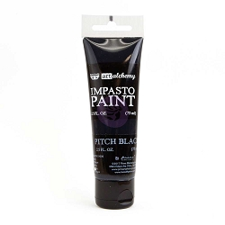 Prima - Finnabair Art Alchemy - Impasto Paint - Pitch Black