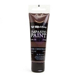 Prima - Finnabair Art Alchemy - Impasto Paint - Dark Chocolate
