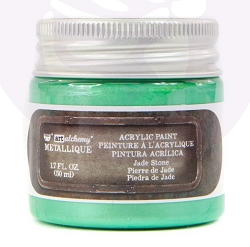 Prima - Art Alchemy Acrylic Paint - Metallique Jade Stone by Finnabair