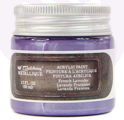 Prima - Art Alchemy Acrylic Paint - Metallique French Lavender by Finnabair