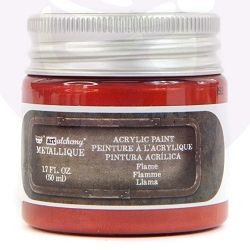 Prima - Art Alchemy Acrylic Paint - Metallique Flame by Finnabair