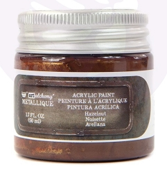 Prima - Art Alchemy Acrylic Paint - Metallique Hazelnut by Finnabair