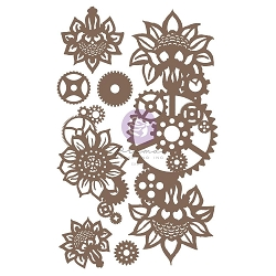 Prima - Chipboard - Machine Floral Decors by Finnabair