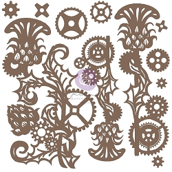 Prima - Chipboard - Mechanical Thistle by Finnabair