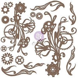 Prima - Chipboard - Mechanical Flourishes by Finnabair
