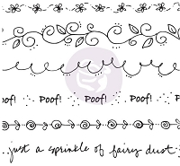 Prima - Cling Mounted Rubber Stamp - by Julie Nutting - Borders :)