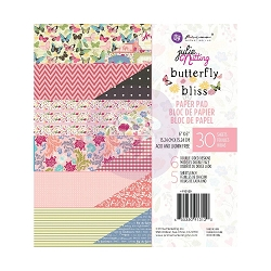 Prima - Butterfly Bliss Collection - Hello Beautiful 6x6 Paper Pad by Julie Nutting