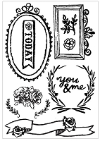 Prima - The Optimist Collection - 11 Piece Cling Stamp Set