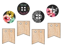 Prima - The Optimist Collection - Wood Buttons