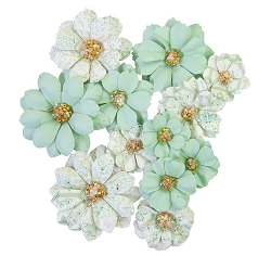 Prima - Pretty Mosaic Collection Flowers - Jade