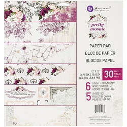 Prima - Pretty Mosaic Collection - 12x12 Paper Pad