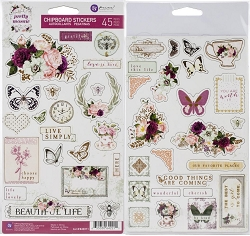 Prima - Pretty Mosaic Collection - Chipboard Stickers