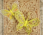 Prima Butterfly Clips - Yellow