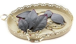 Prima Heirloom Paper Leaves - Sterling Gray (with burgundy tips)