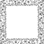 Prima Paintables Paper - Posies Frame